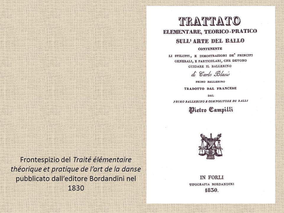 Frontespizio del Traité élémentaire théorique et pratique de l'art de la danse pubblicato dall'editore Bordandini nel 1830