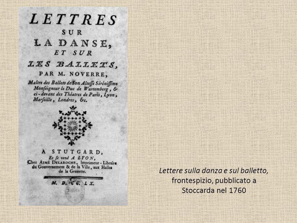 Lettere sulla danza e sul balletto, frontespizio, pubblicato a Stoccarda nel 1760