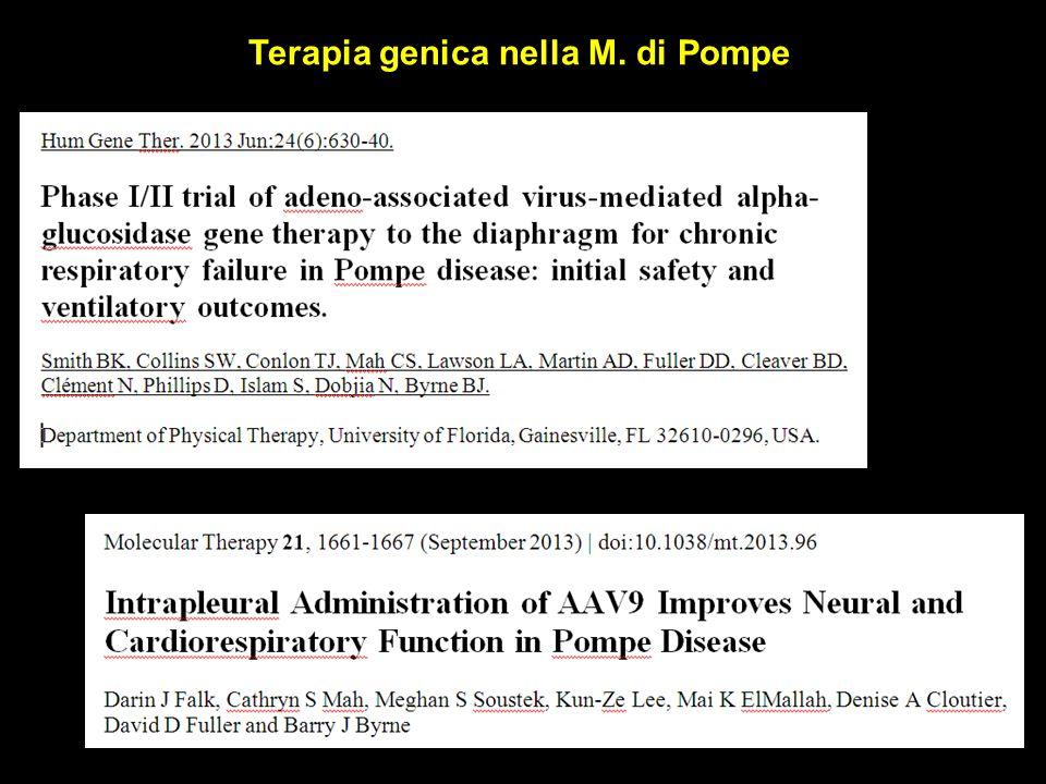Terapia genica nella M. di Pompe