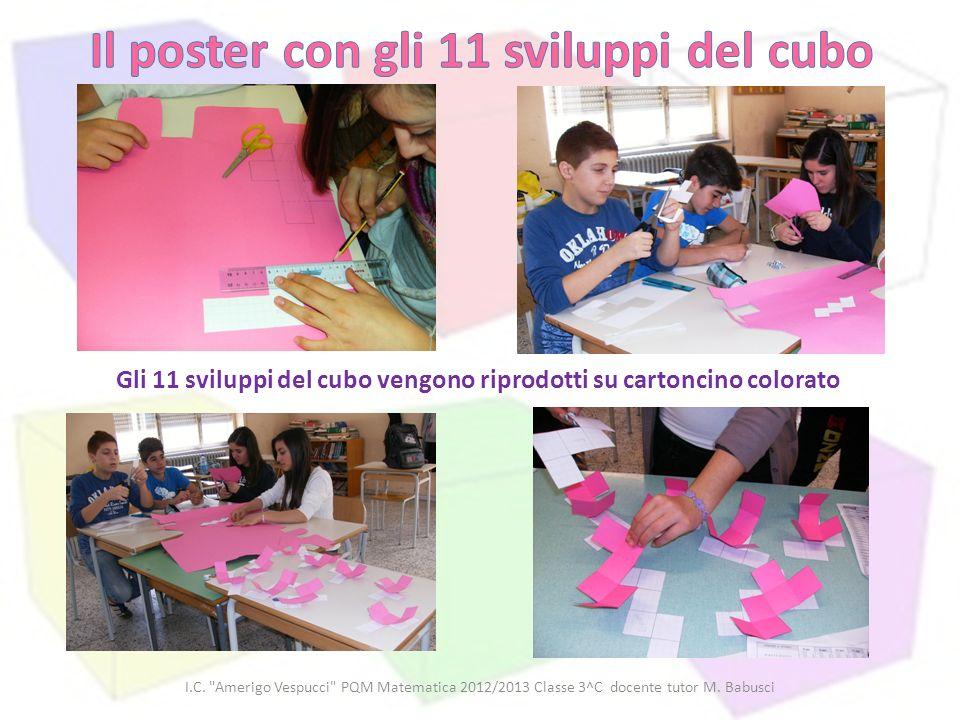 Il poster con gli 11 sviluppi del cubo