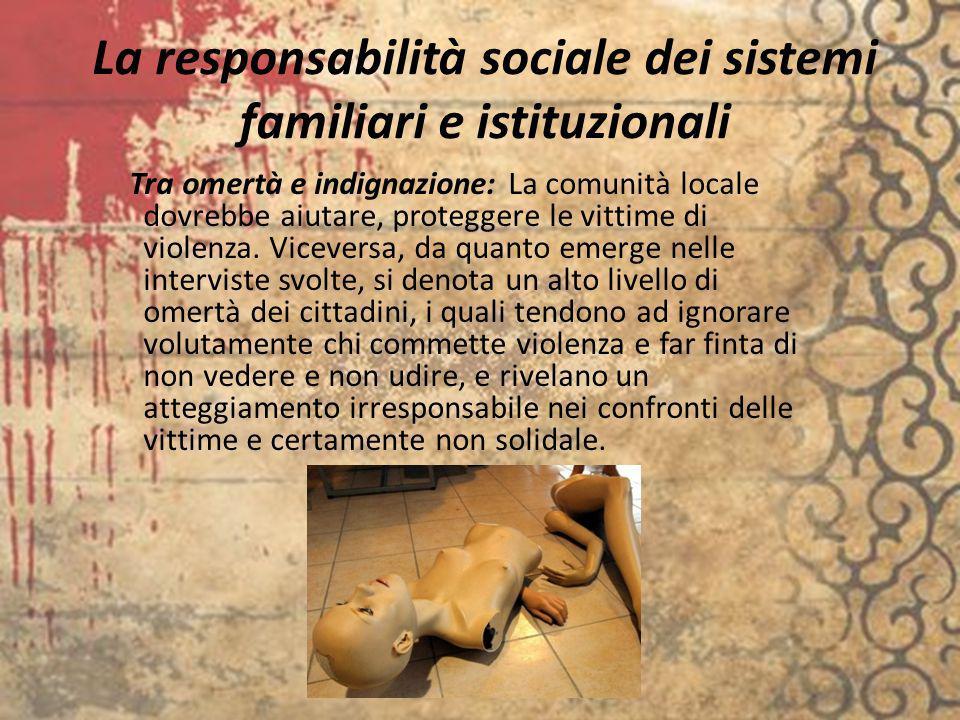 La responsabilità sociale dei sistemi familiari e istituzionali