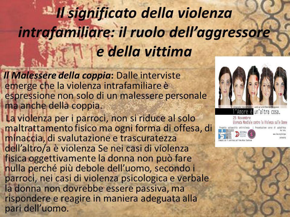 Il significato della violenza intrafamiliare: il ruolo dell'aggressore e della vittima