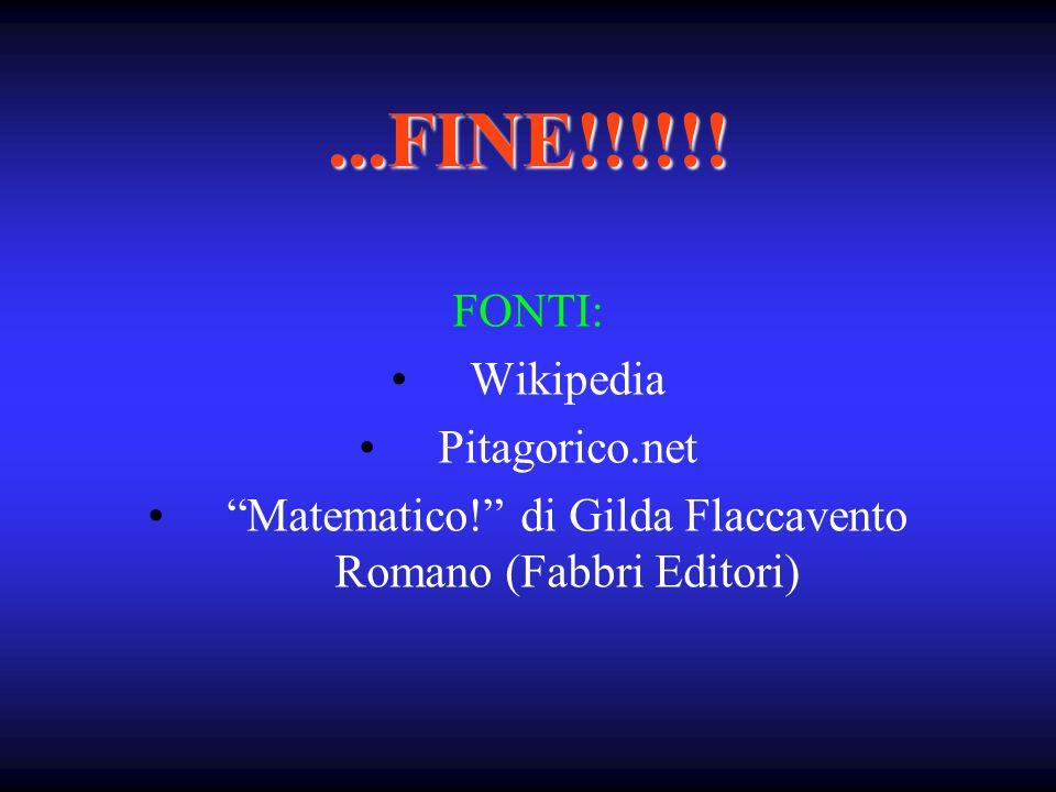 Matematico! di Gilda Flaccavento Romano (Fabbri Editori)