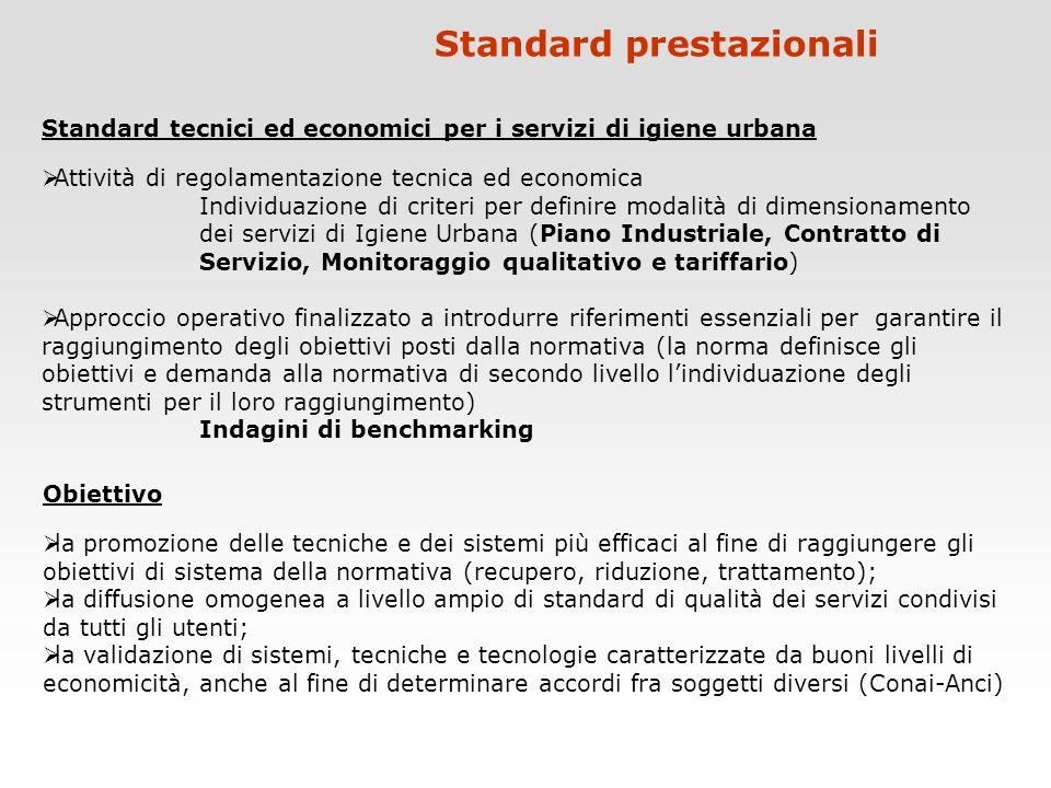 Standard prestazionali