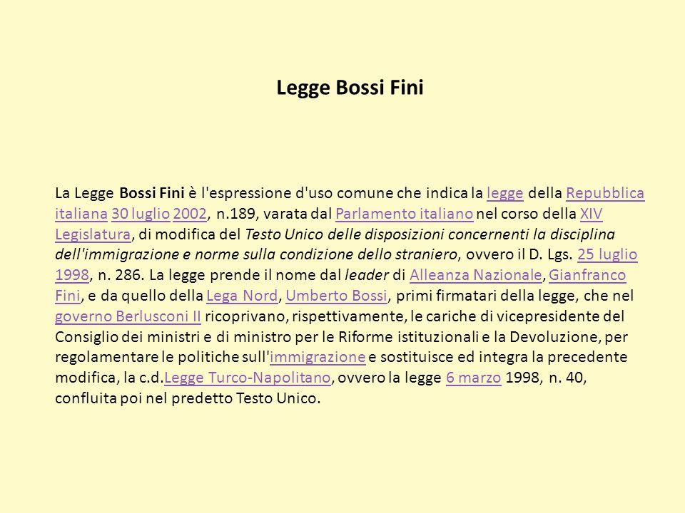 Legge Bossi Fini