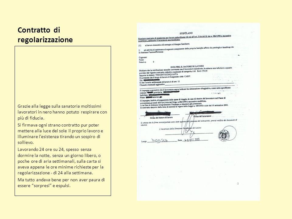 Contratto di regolarizzazione