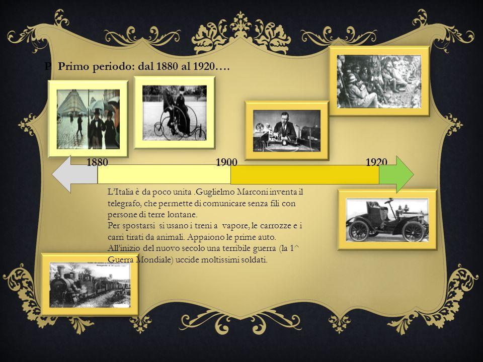 P Primo periodo: dal 1880 al 1920….