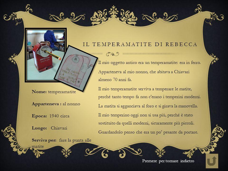 Il temperamatite di Rebecca