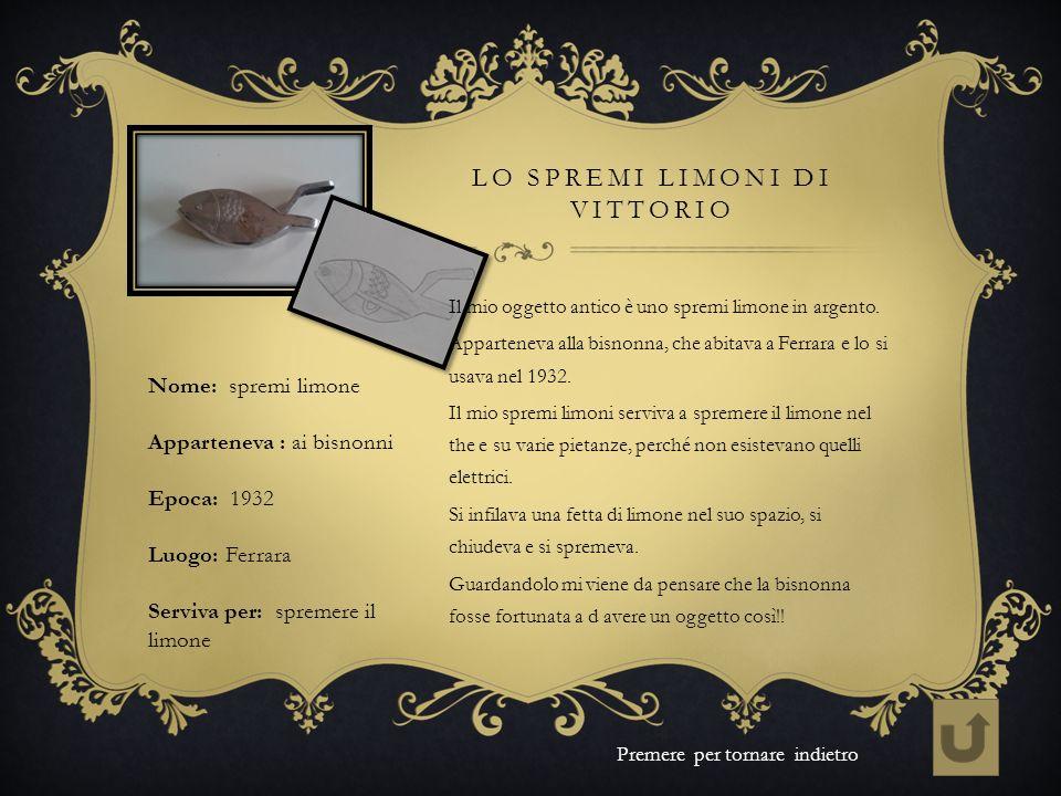 Lo spremi limoni di Vittorio
