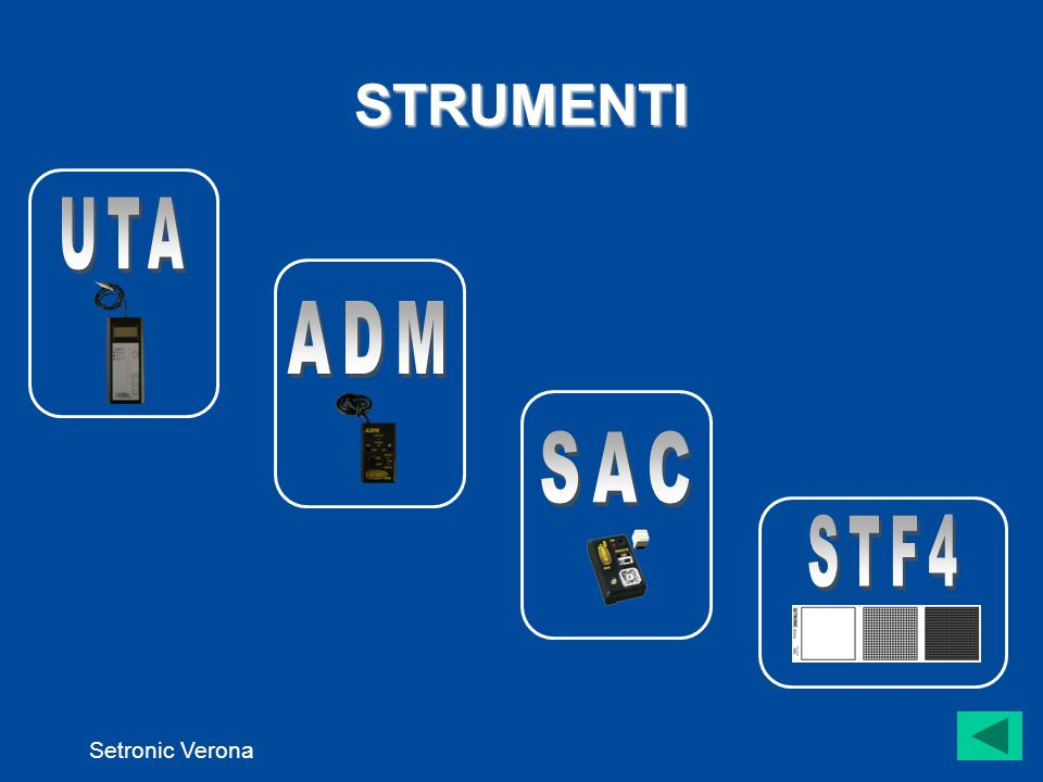 STRUMENTI UTA ADM SAC STF4 Setronic Verona