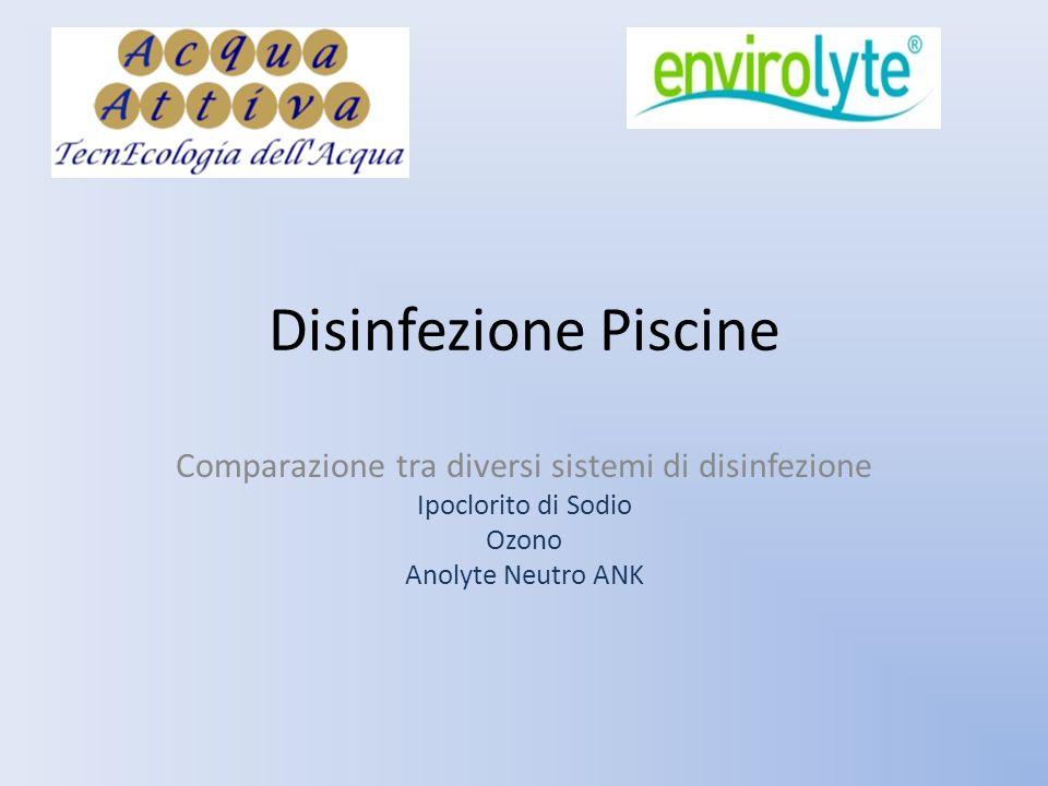 Comparazione tra diversi sistemi di disinfezione