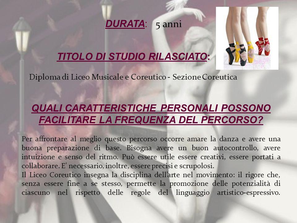 TITOLO DI STUDIO RILASCIATO: