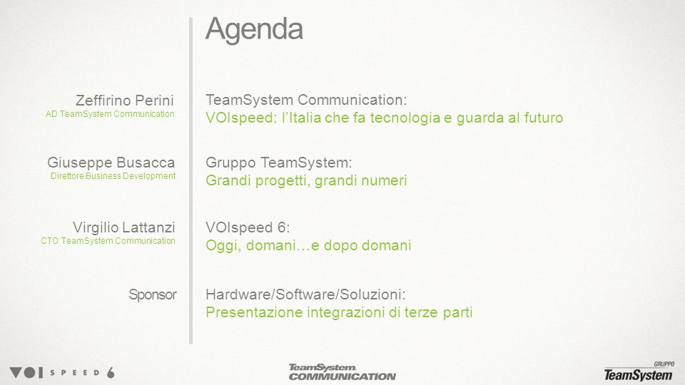Agenda Zeffirino Perini TeamSystem Communication: