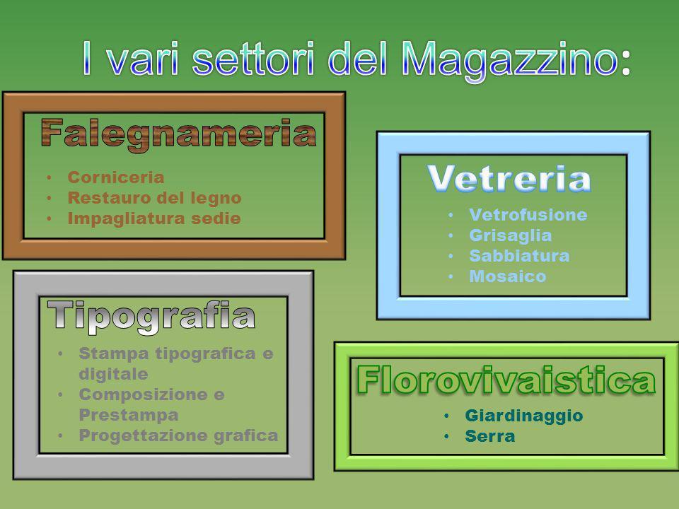 I vari settori del Magazzino: