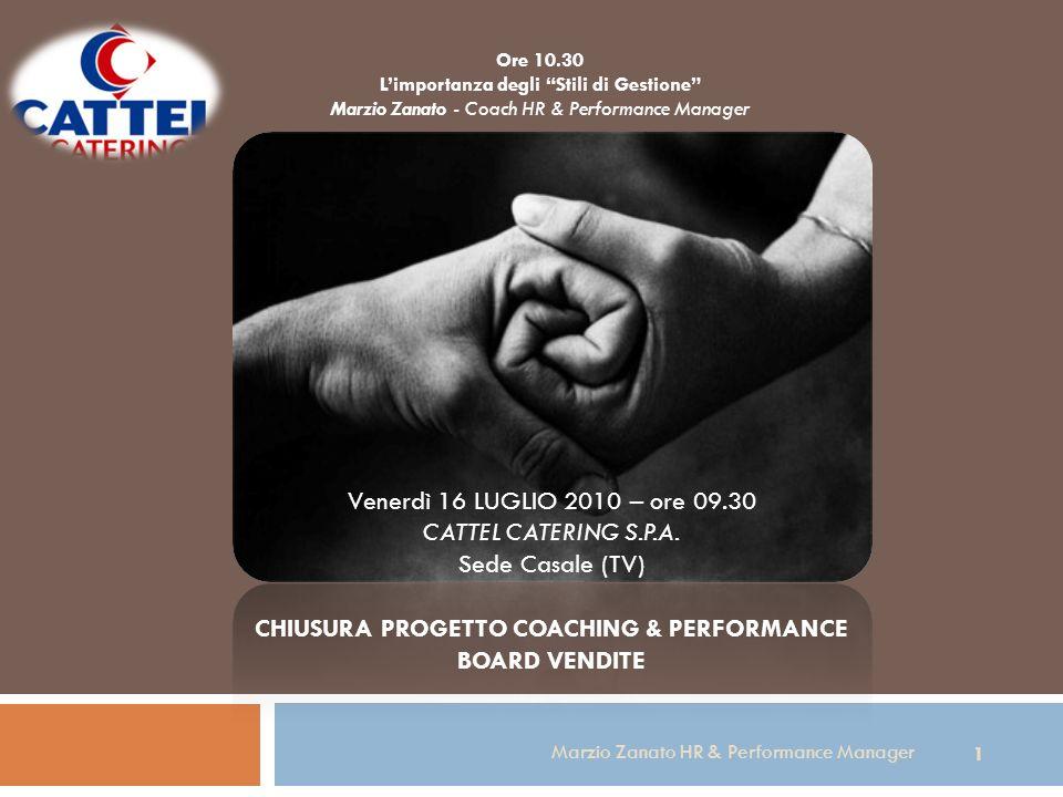 CHIUSURA PROGETTO COACHING & PERFORMANCE BOARD VENDITE