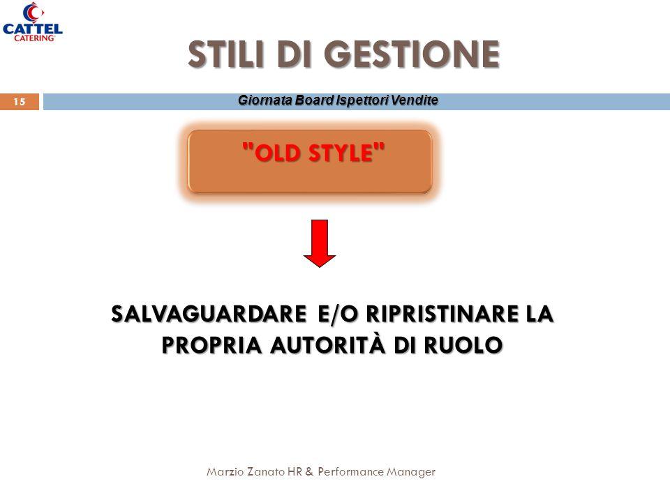 SALVAGUARDARE E/O RIPRISTINARE LA PROPRIA AUTORITÀ DI RUOLO