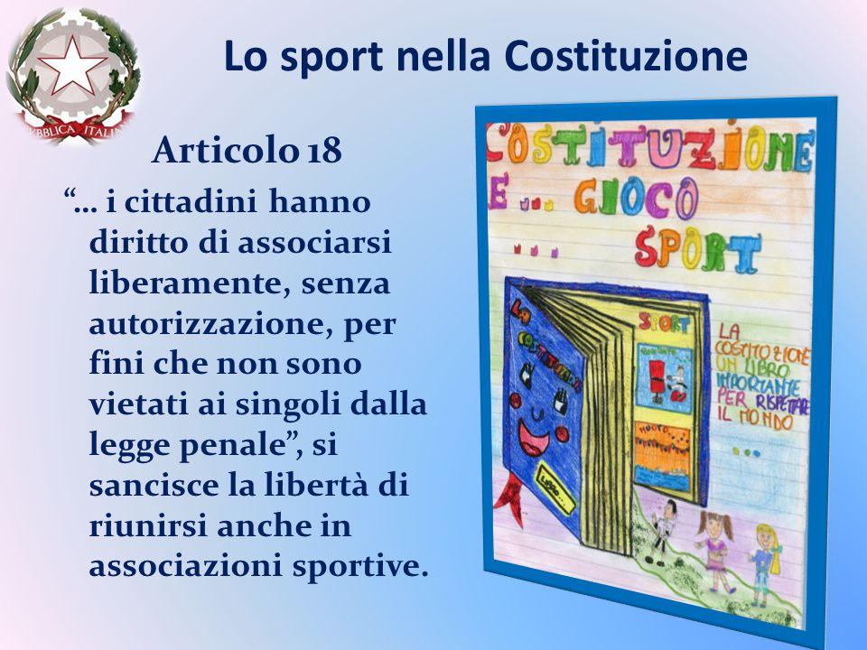 Lo sport nella Costituzione