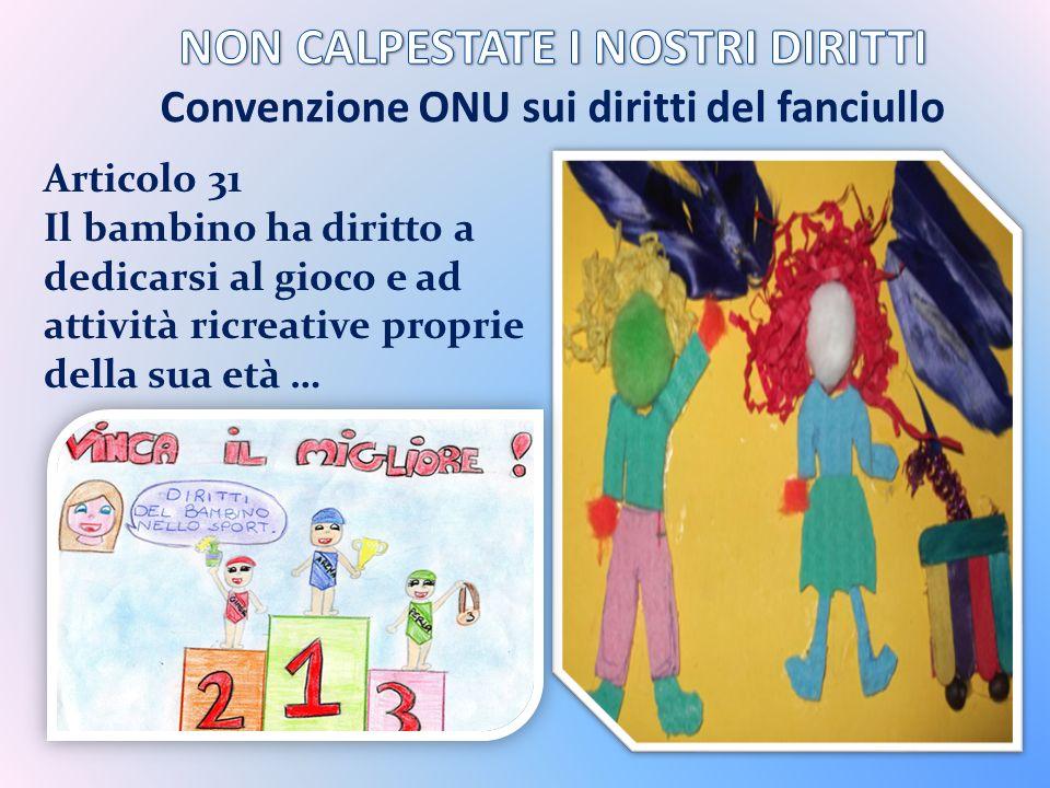 NON CALPESTATE I NOSTRI DIRITTI Convenzione ONU sui diritti del fanciullo