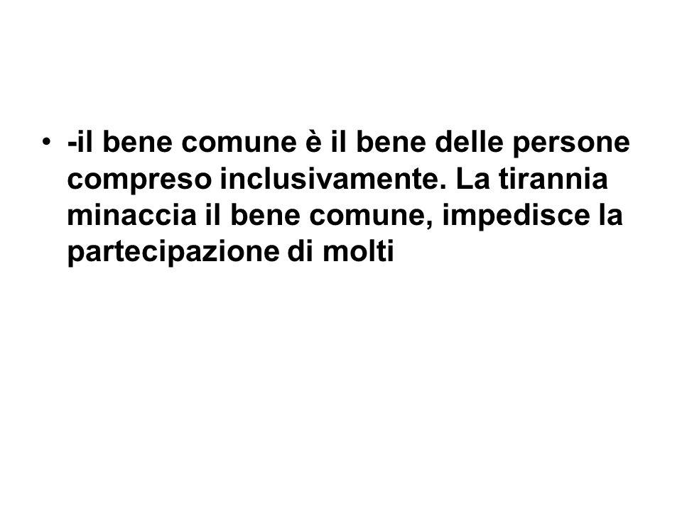 -il bene comune è il bene delle persone compreso inclusivamente