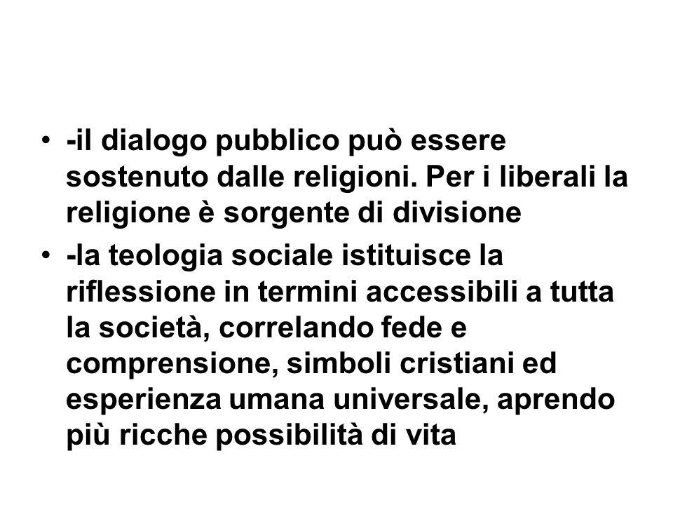 -il dialogo pubblico può essere sostenuto dalle religioni