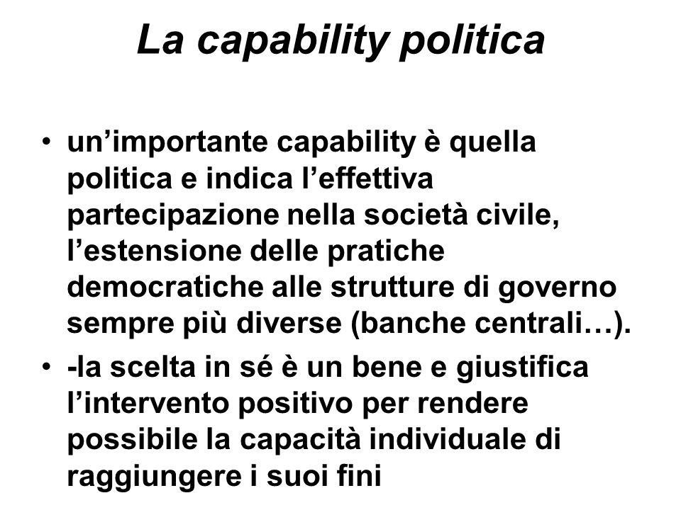 La capability politica