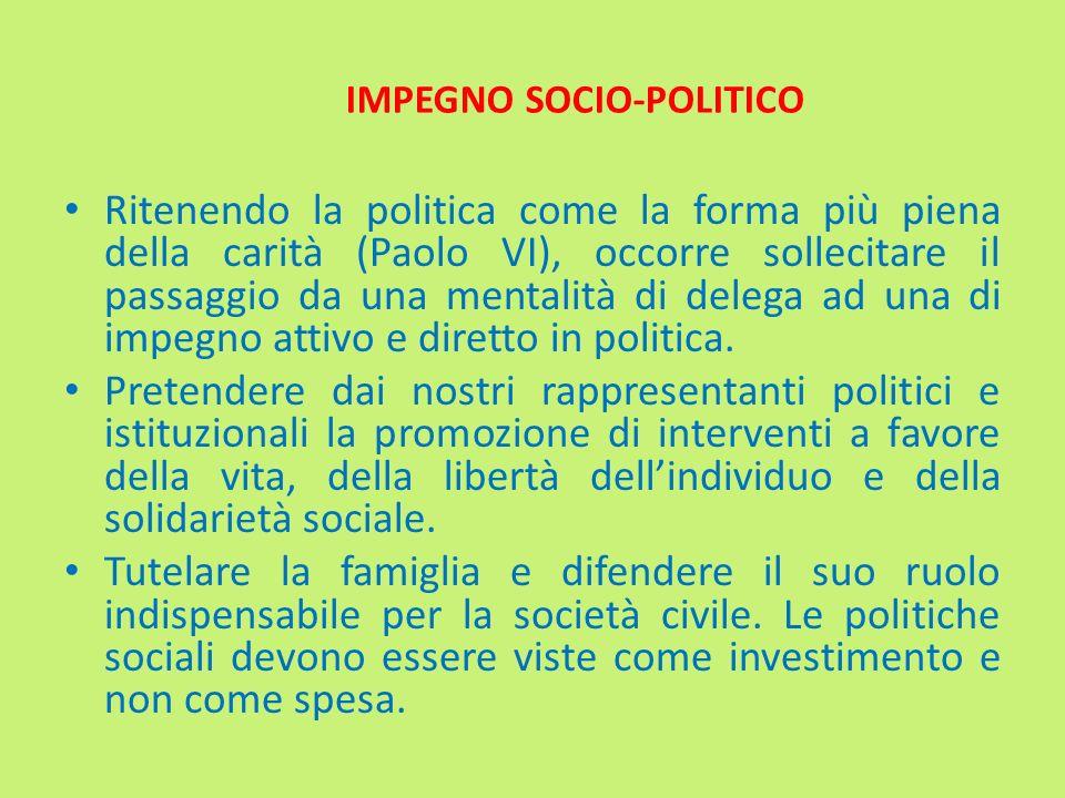 IMPEGNO SOCIO-POLITICO