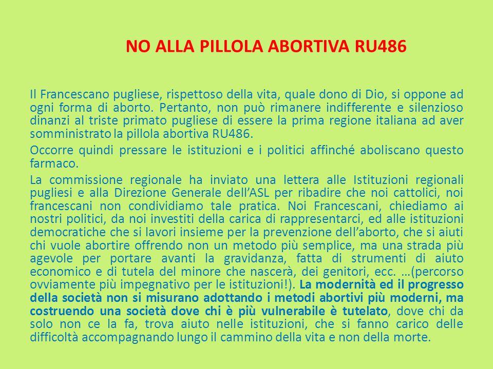 NO ALLA PILLOLA ABORTIVA RU486
