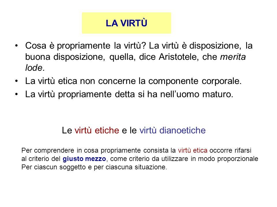 Le virtù etiche e le virtù dianoetiche