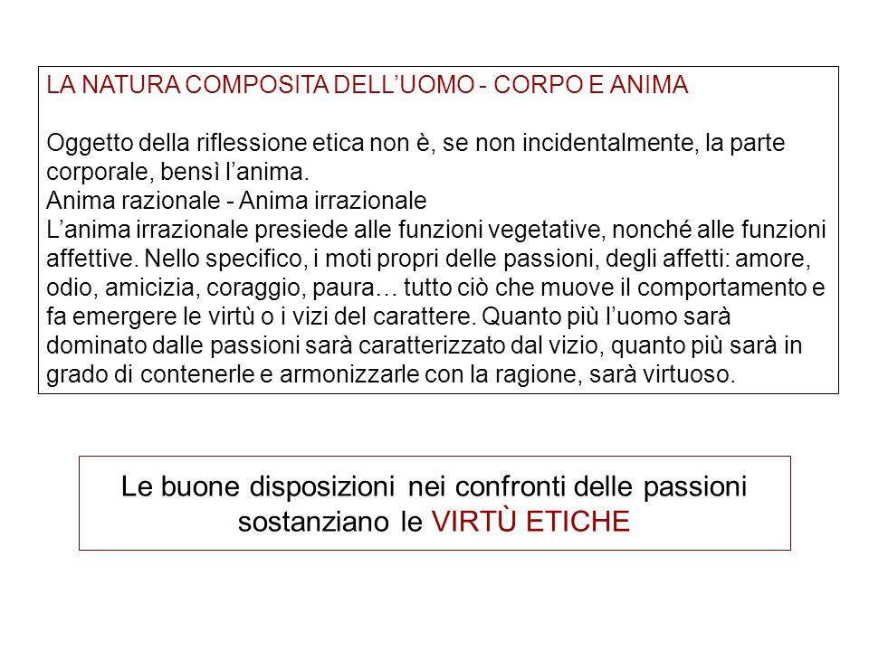 LA NATURA COMPOSITA DELL'UOMO - CORPO E ANIMA