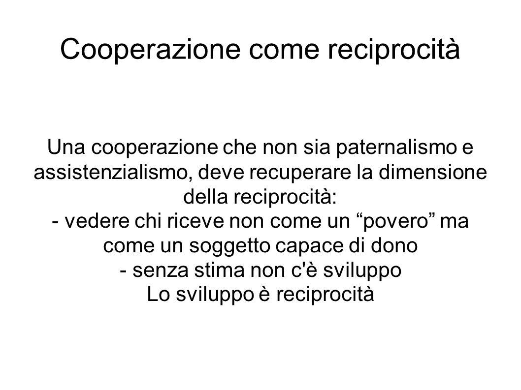 Cooperazione come reciprocità