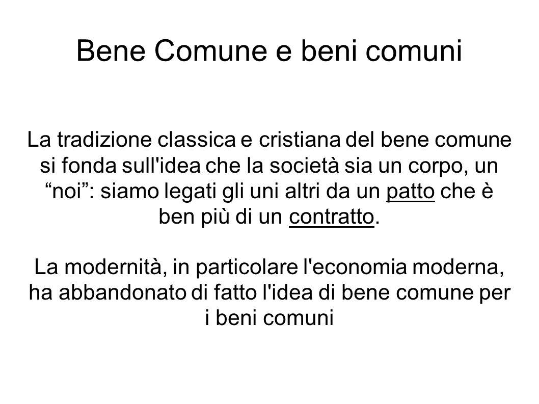 Bene Comune e beni comuni