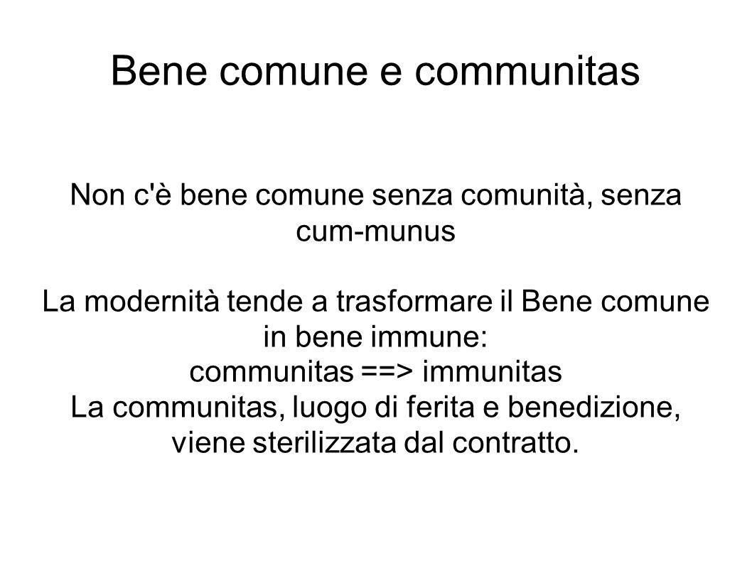 Bene comune e communitas