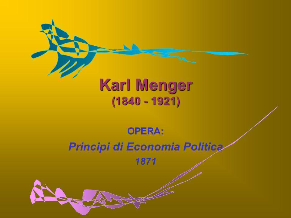 OPERA: Principi di Economia Politica 1871