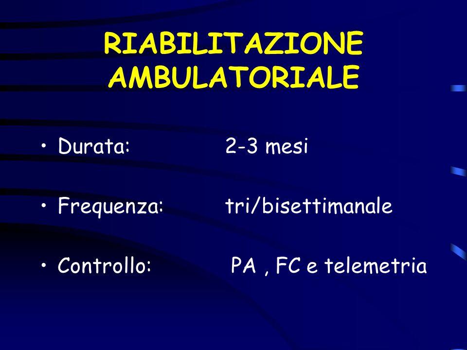 RIABILITAZIONE AMBULATORIALE