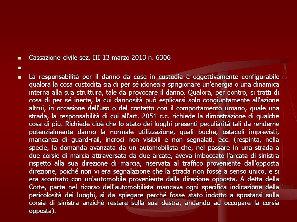 Cassazione civile sez. III 13 marzo 2013 n. 6306