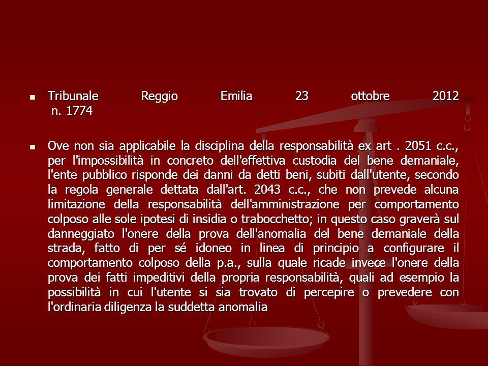Tribunale Reggio Emilia 23 ottobre 2012 n. 1774