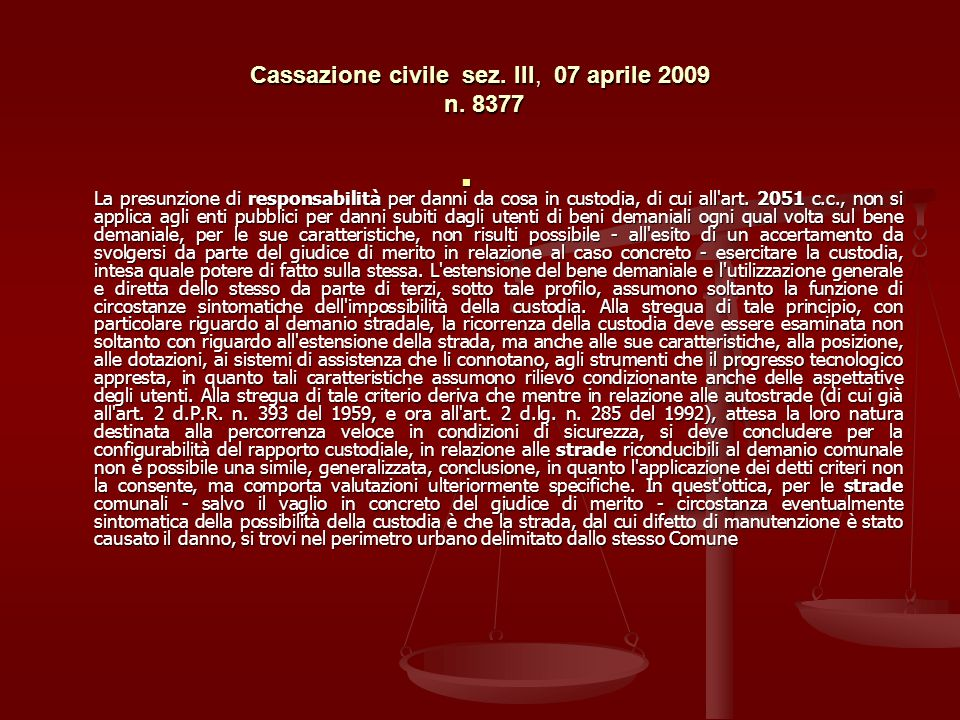 Cassazione civile sez. III, 07 aprile 2009 n. 8377