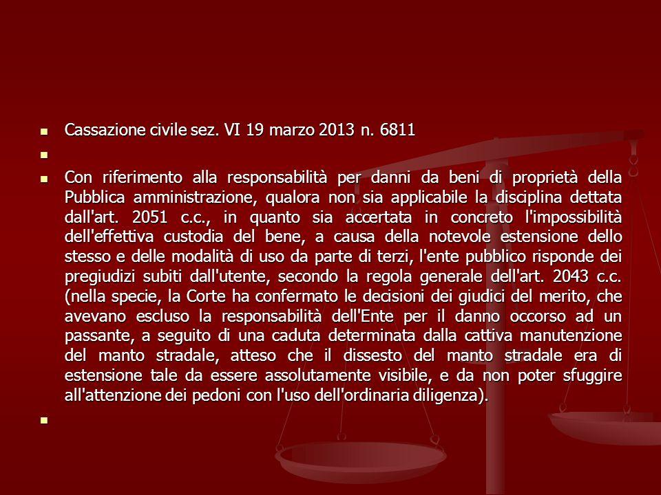 Cassazione civile sez. VI 19 marzo 2013 n. 6811