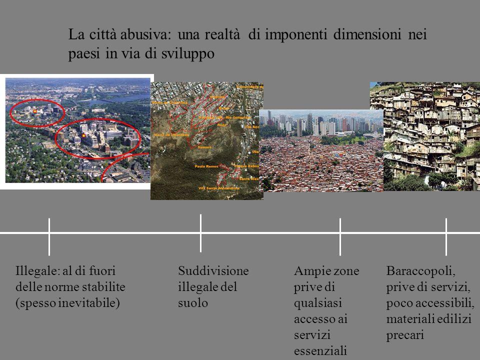 La città abusiva: una realtà di imponenti dimensioni nei paesi in via di sviluppo