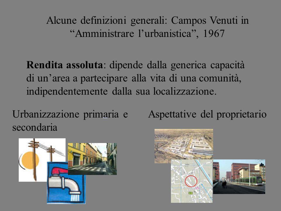 Urbanizzazione primaria e secondaria Aspettative del proprietario
