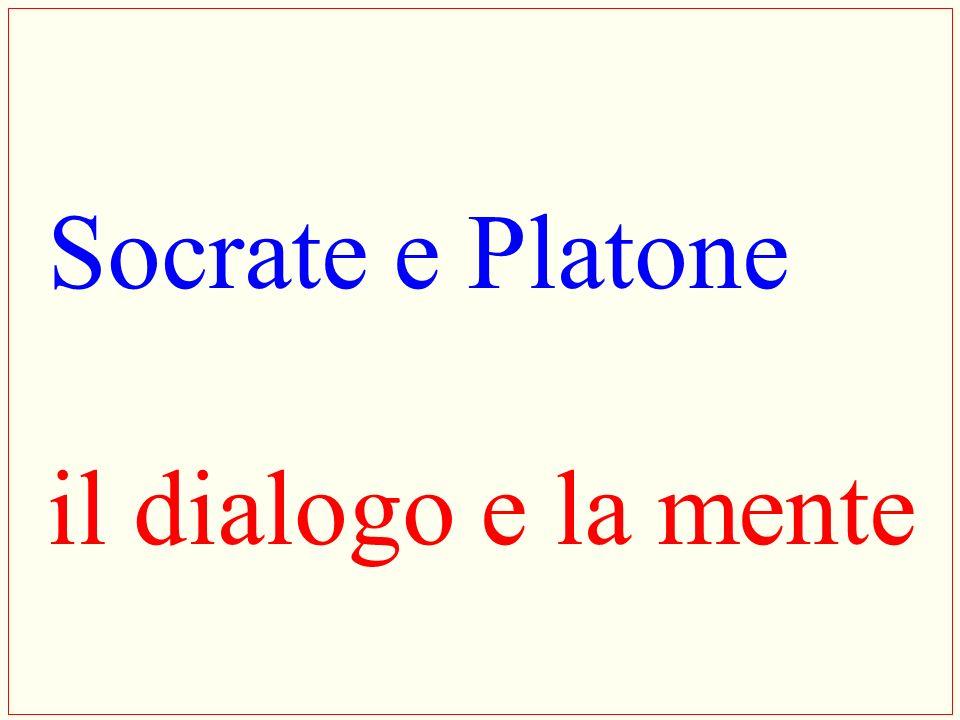 Socrate e Platone il dialogo e la mente