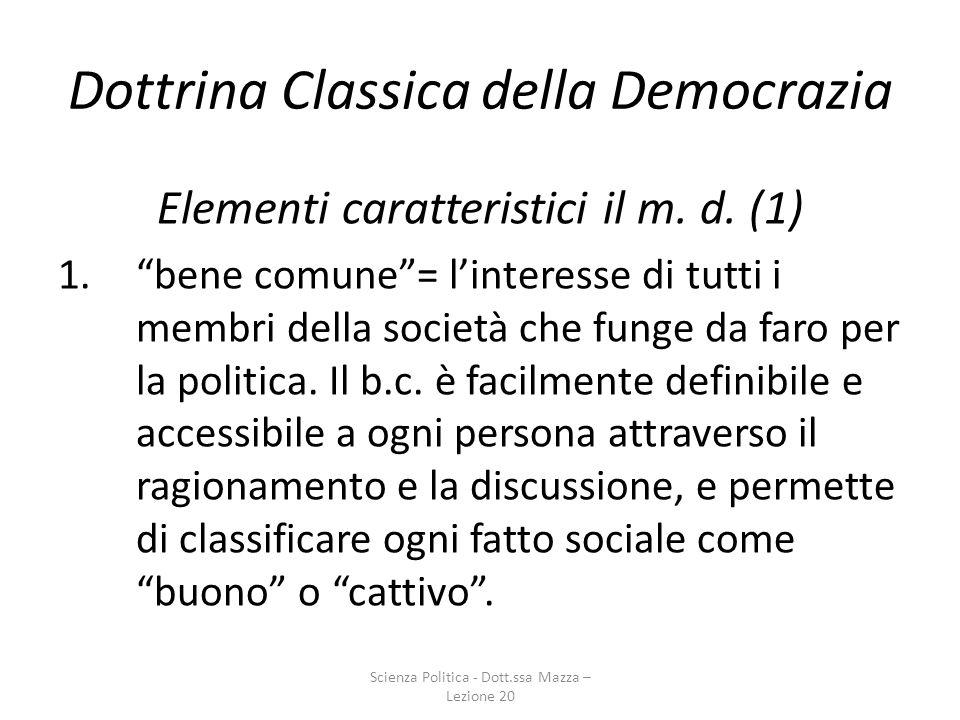 Dottrina Classica della Democrazia
