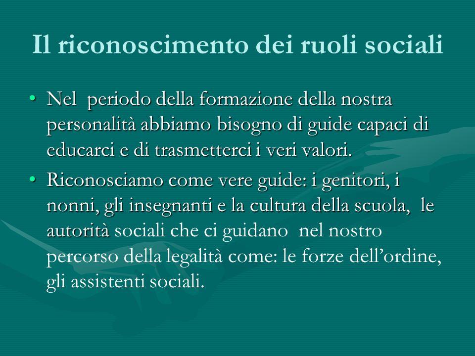 Il riconoscimento dei ruoli sociali