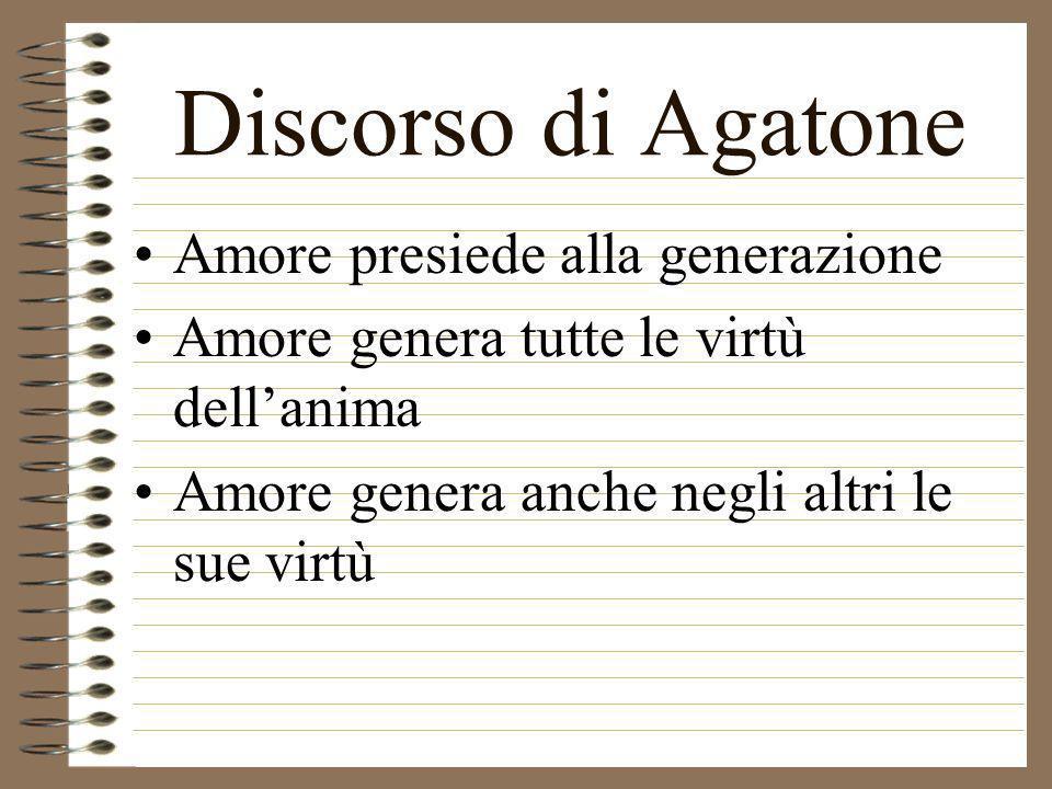 Discorso di Agatone Amore presiede alla generazione