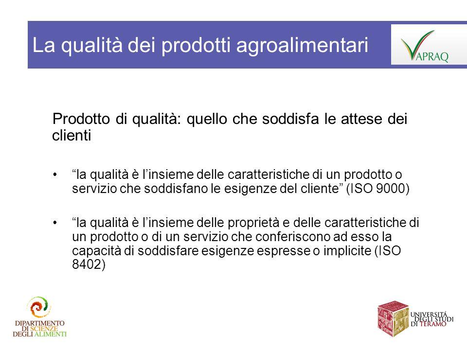 La qualità dei prodotti agroalimentari