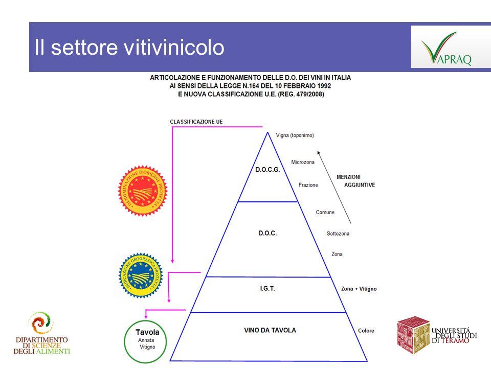 Il settore vitivinicolo