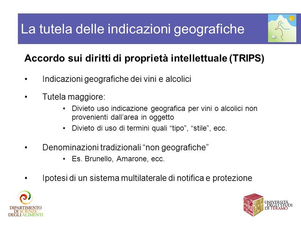 La tutela delle indicazioni geografiche