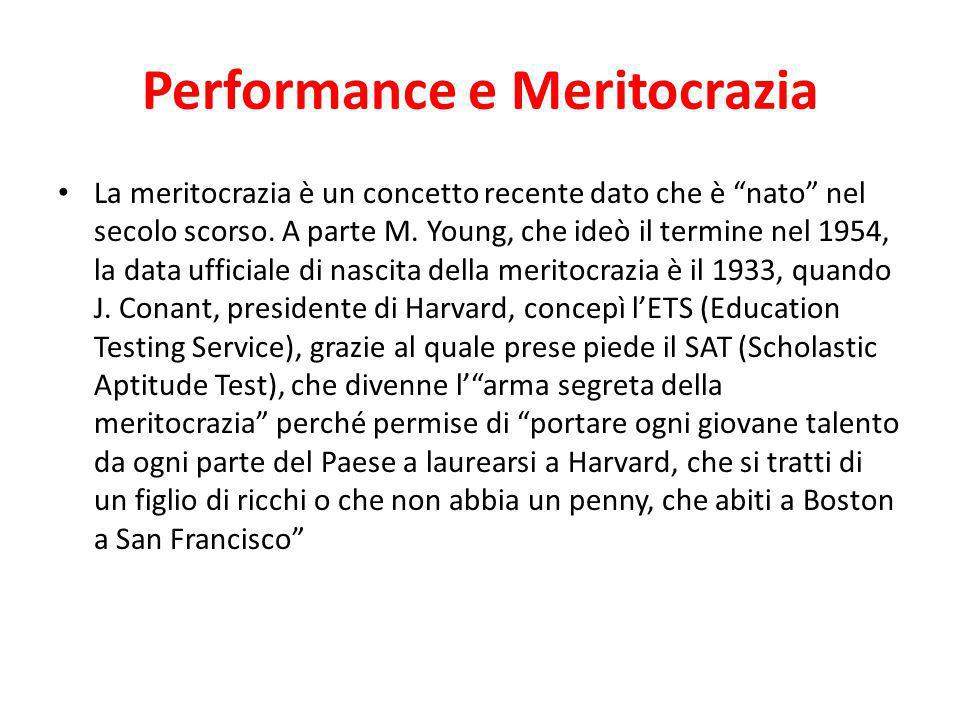 Performance e Meritocrazia
