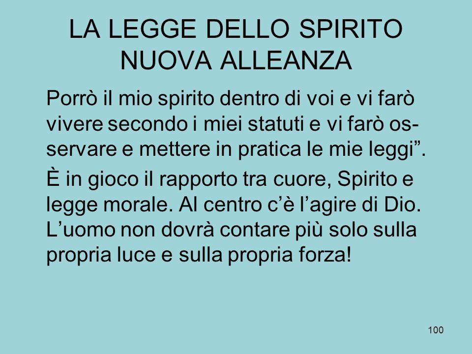 LA LEGGE DELLO SPIRITO NUOVA ALLEANZA