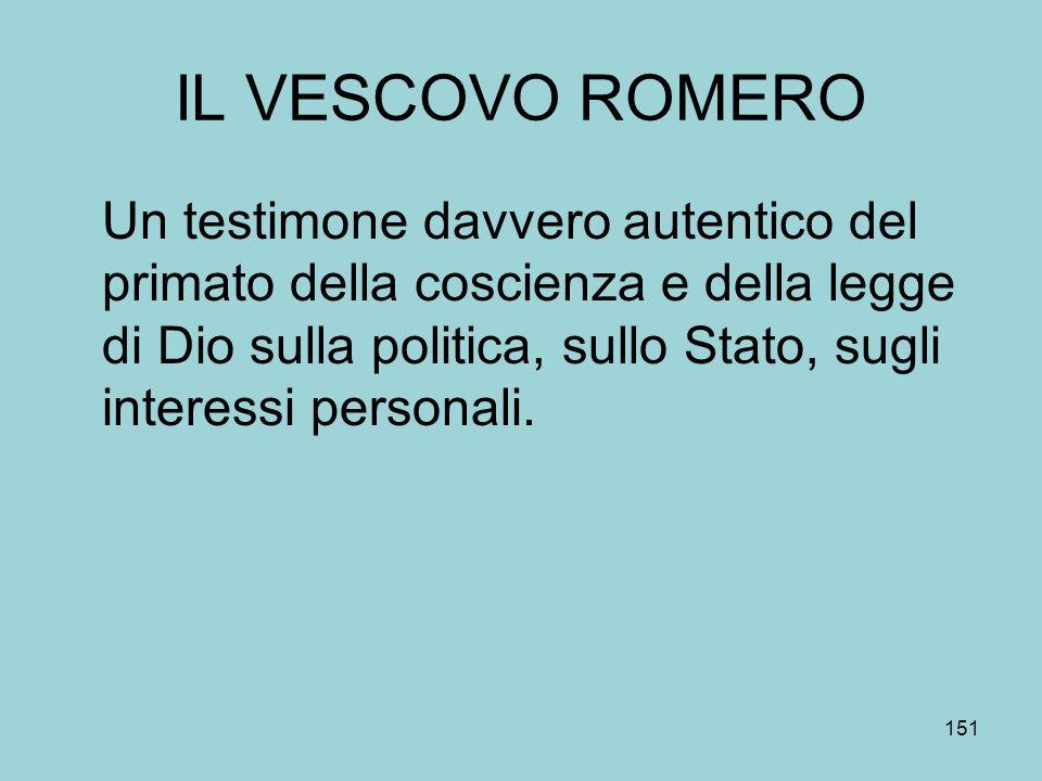 IL VESCOVO ROMERO